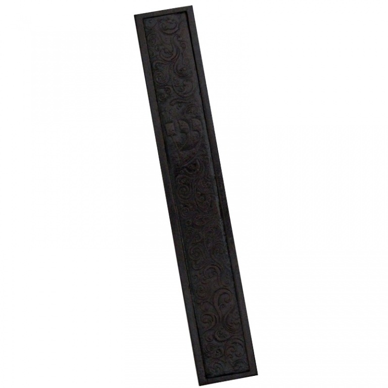 Mezuzah with Ornamented Patterned Leather - 2XL
