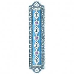 Blue Gemstone Mezuzah
