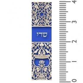Blue Goblet Mezuzah
