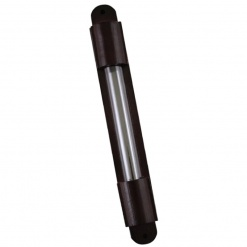 Brown Wooden Mezuzah With Glass Display - Large