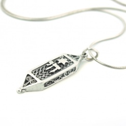 Chai Star Silver Mezuzah Necklace