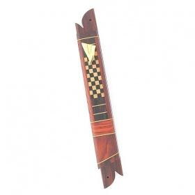 Checkered Wooden Mezuzah