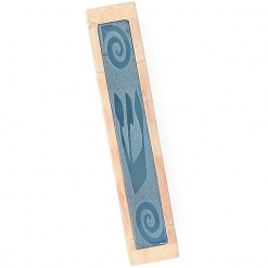 Chesed Jerusalem Stone and Glass Mezuzah