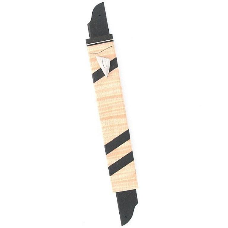 Diaginal Stripes Wooden Mezuzah