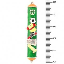 Enamel Soccer Mezuzah