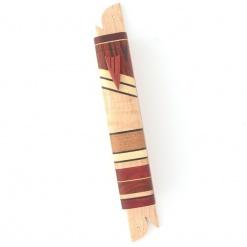 Fine Wooden Mezuzah - Dark