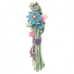 Flower Bouquet Mezuzah