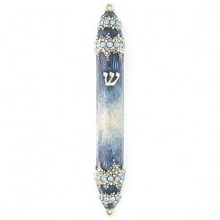 Granular Crystal Mezuzah in Blue - Small