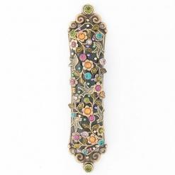 Intricate Dove Mezuzah in Bright Colors