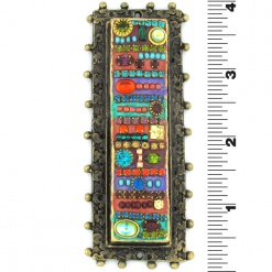 Intricate Framed Mezuzah
