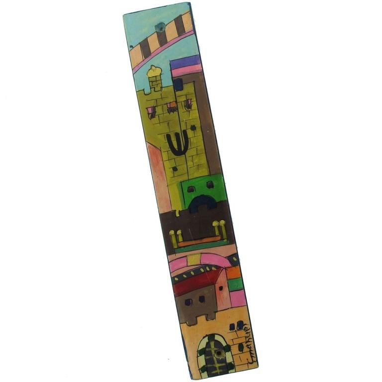 Jerusalem Mezuzah in Full Color