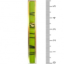 Light Green Striped Kabbalah Mezuzah - Large