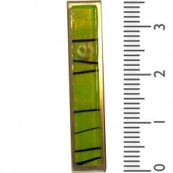 Light Green Striped Kabbalah Mezuzah - Small