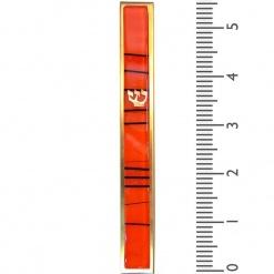 Orange Striped Kabbalah Mezuzah - Large