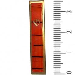 Orange Striped Kabbalah Mezuzah - Small