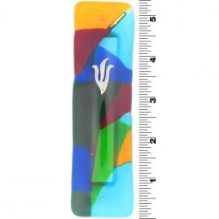 Rainbow Fusion Glass Mezuzah
