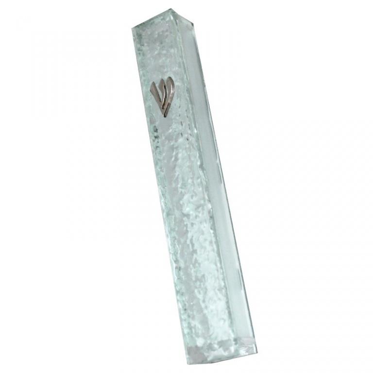 Rippled Glass Mezuzah - Medium