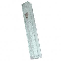 Rippled Glass Mezuzah - Small