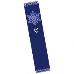 Royal Blue Jewish Star Large Mezuzah