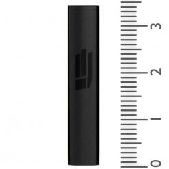 Sandblasted Mezuzah in Black - Small