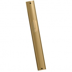 Sandblasted Mezuzah in Gold - Large