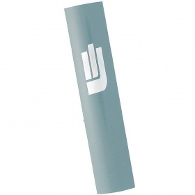 Sandblasted Mezuzah in Grey Blue - Small