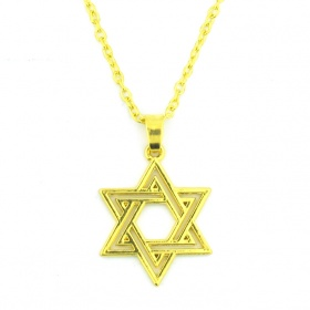 Star of David Gold Plated Pendant Necklace