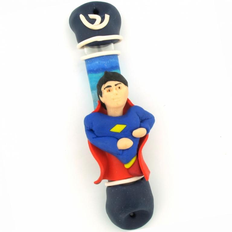 Superman Fimo Mezuzah