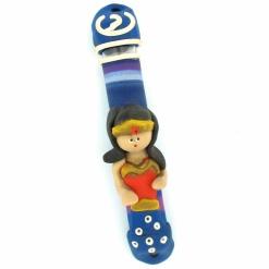 Superwoman Fimo Mezuzah
