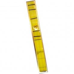 Yellow Striped Kabbalah Mezuzah - Large