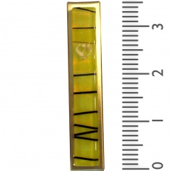 Yellow Striped Kabbalah Mezuzah - Small
